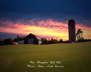 silo over sunrise